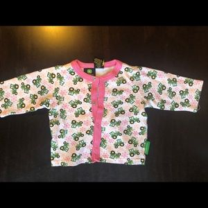 John Deere baby girl top 3-6M